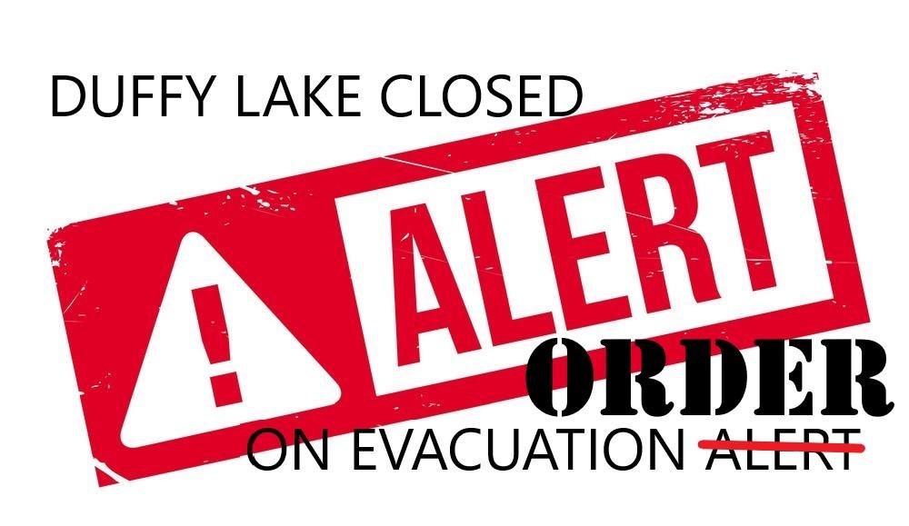 Update: Duffy Lake on Evac ORDER